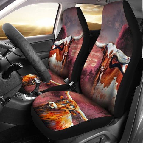 Texas Longhorn Cattle Print Car Seat Covers- Free Shipping