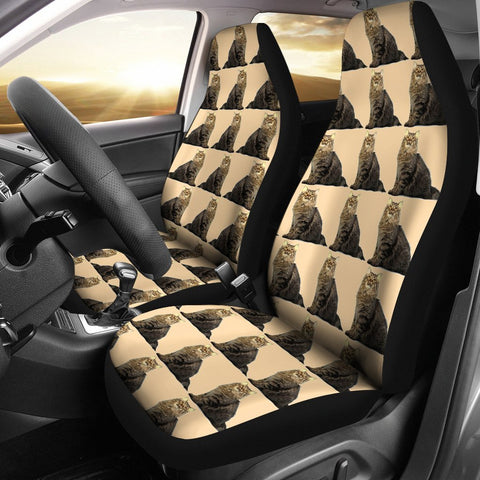Lovely American Bobtail Cat Pattern Print Car Seat Covers-Free Shipping