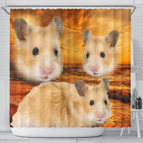 Golden Hamster Print Shower Curtains-Free Shipping