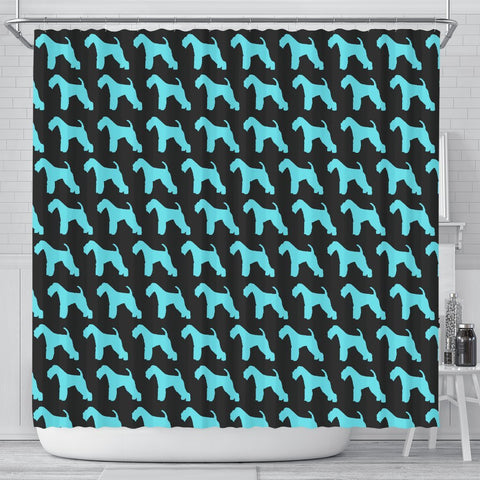 Lakeland Terrier Dog Pattern Print Shower Curtains-Free Shipping