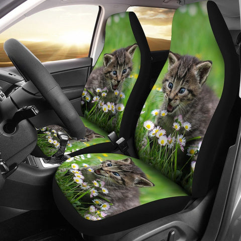 Cute American Shorthair Cat Print Car Seat Covers-Free Shipping
