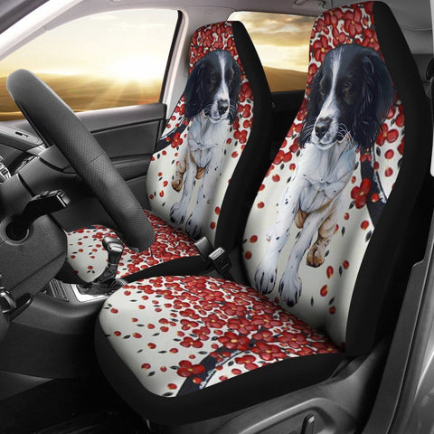 English Springer Spaniel Print Car Seat Covers-Free Shipping