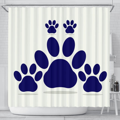 Dog Paws Art Print Shower Curtains-Free Shipping