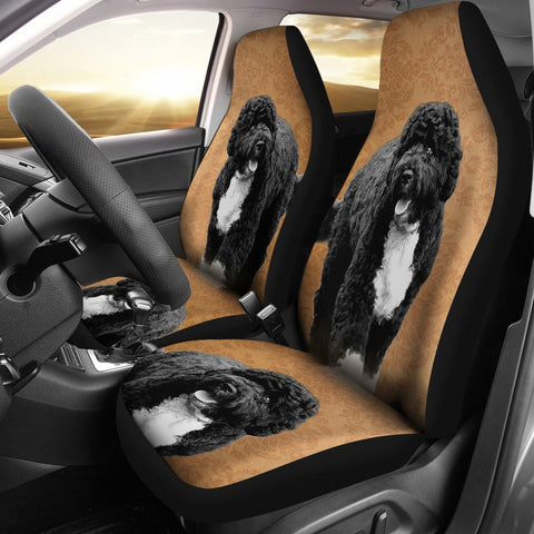 Cute Portuguese Water Dog Print Car Seat Covers-Free Shipping