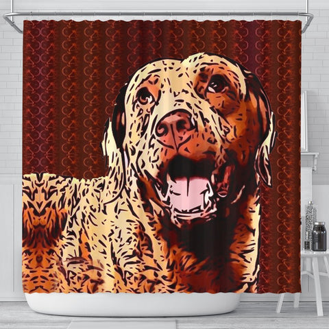 Chesapeake Bay Retriever Dog Print Shower Curtain-Free Shipping