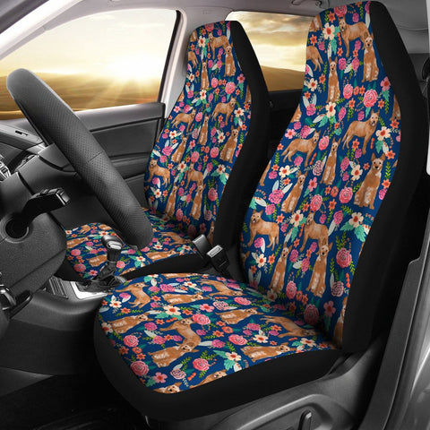 Australian Cattle Dog Floral Print Car Seat Covers-Free Shipping