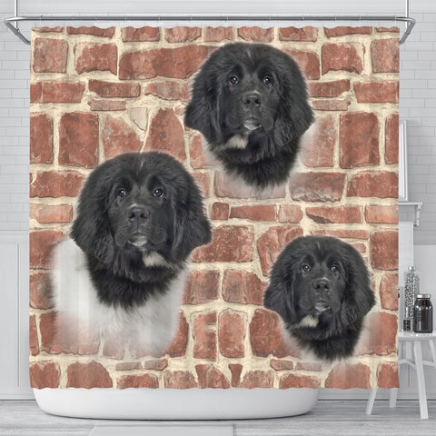 Newfoundland Dog Print Shower Curtains-Free Shipping