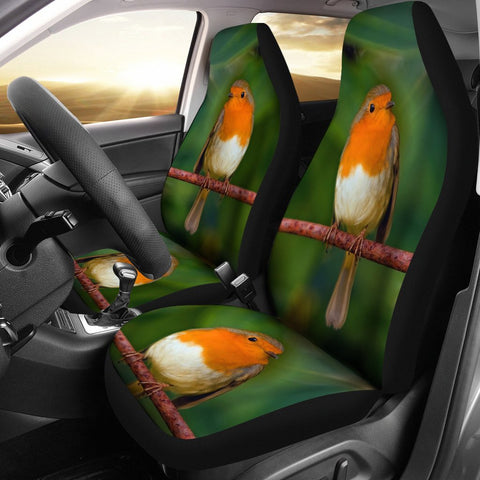 Lovely Robin Bird Print Car Seat Covers-Free Shipping