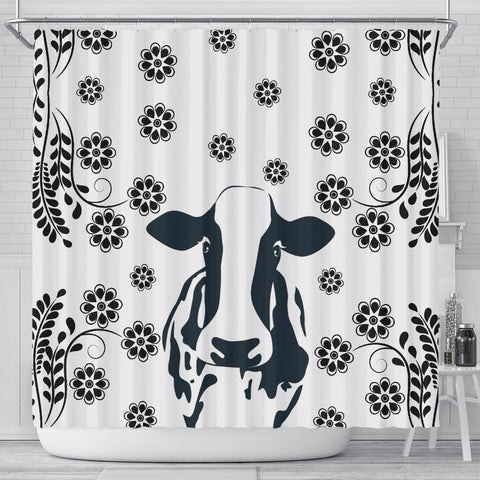 Cow Print Shower Curtain-Free Shipping