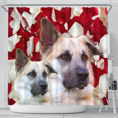 Chinook Dog Print Shower Curtains-Free Shipping