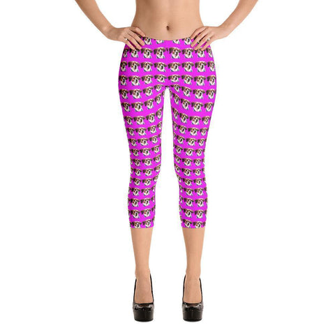 Dog Print Pink Leggings (Free Shipping)