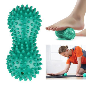 Peanut Shape Massage Yoga Fitness Ball PVC Stress Relief Body Hand Foot Massager - LegPET