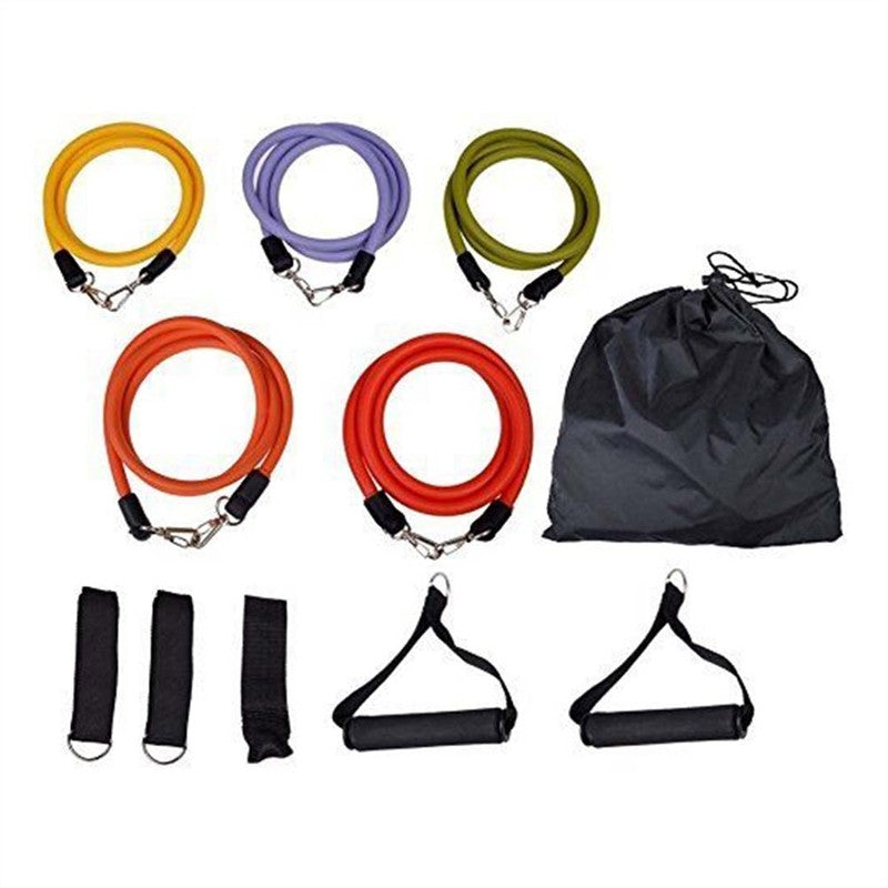 Resistance Band Set Yoga Pilates Abs Exercise Fitness Tube Workout Bands - LegPET