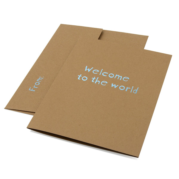 Welcome to the World - brilliant light blue