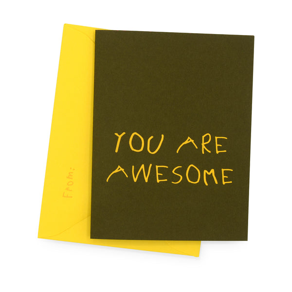 YOU ARE AWESOME - Walnut