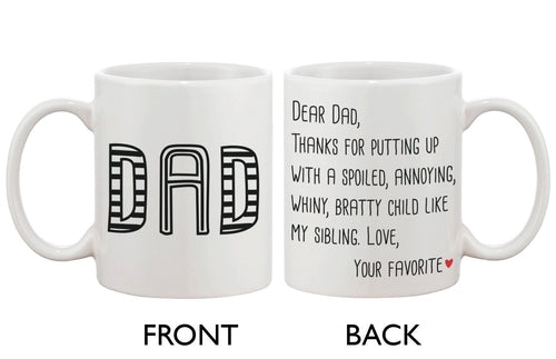 Father's Day Mug 'DAD'- From Your Favorite