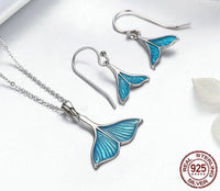 mermaid tail necklace set