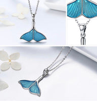 whale tail necklace set