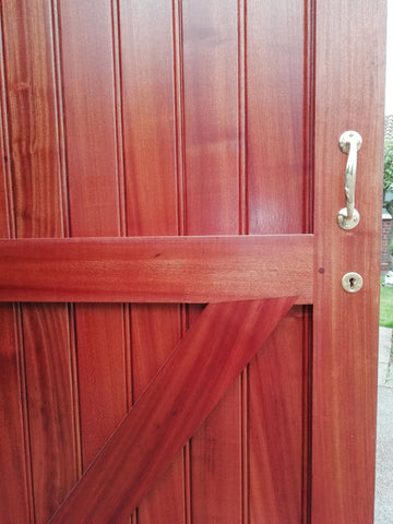 Garage doors in sapele