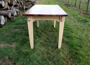 Wildwood Elm table top - end view