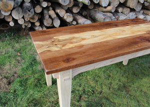 Wildwood Elm table - angled view