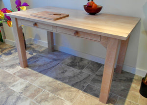 Farmhouse table in oak