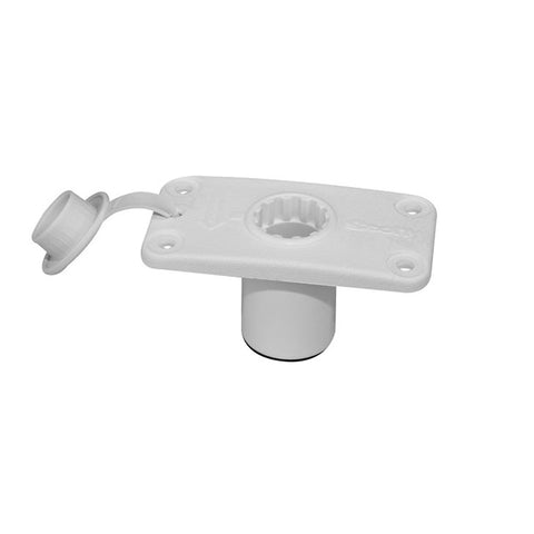 Scotty 244 Flush Deck Mount White w/Rain Cap [244-WH]