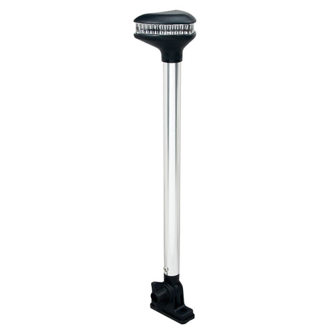 "Perko Stealth Series - L.E.D. Fold Down White All-Round Light - Vertical Mount - 13-3/8"" [1639DP0CHR]"