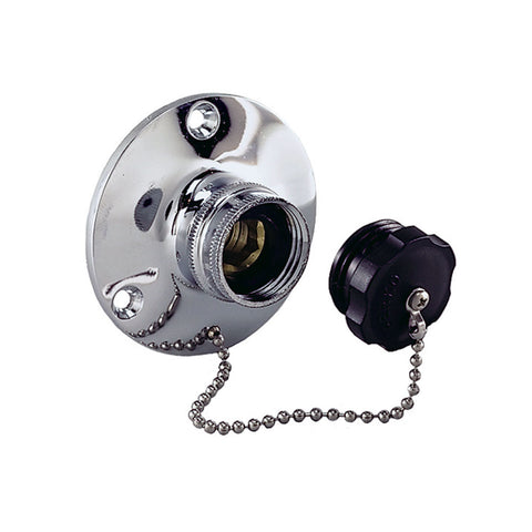 Perko Water Inlet Fitting w/Plug [0499DP0CHR]