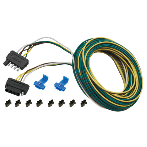 Wesbar 25 ft. 5-Wire Wishbone Flat Wiring Harness Kit [707105]