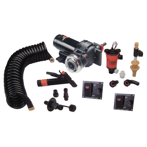 Johnson Pump Aqua Jet 5.2 GPH Wash Down/550 Live Well Kit [64634]