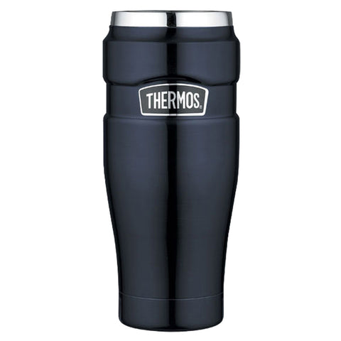 Thermos Stainless King Vacuum Insulated Travel Tumbler - 16 oz. - Stainless Steel/Midnight Blue [SK1005MBTRI4]