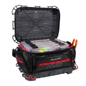 Plano KVD Signature Tackle Bag 3600 - Black-Grey-Red [PLAB36700]