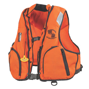 Stearns Manual Inflatable Vest w-Nomex Fabric - Orange-Black - S-M [3000002922]