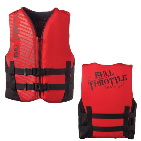 Full Throttle Rapid-Dry Life Vest - Youth 50-90lbs - Red/Black [142100-100-002-19]