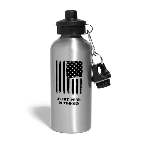 USA Water Bottle - silver