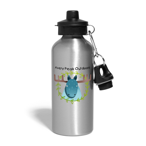 Kids Moose Water Bottle - silver