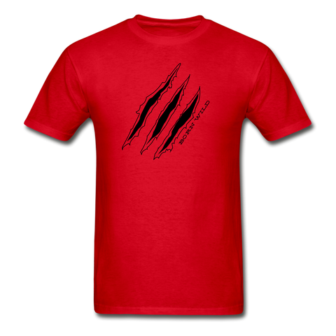 Mens Born Wild Tee - red