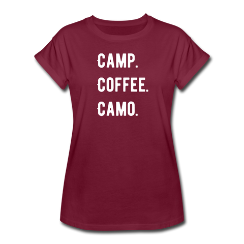 Women's Relaxed Fit 3 C's Tee - burgundy