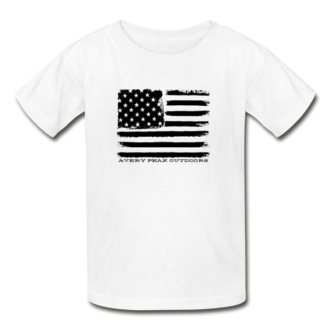 Boys AP American Flag Tee - white
