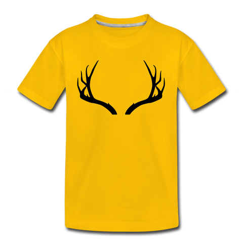 Boys Basic Antler Tee - sun yellow