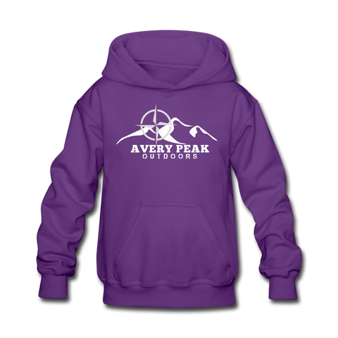 Girls Basic Logo Hoodie - purple