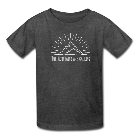 Girls Mountain Tee - heather black