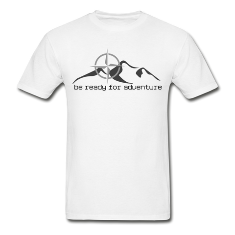 Men's Be Ready For Adventure Tee - white