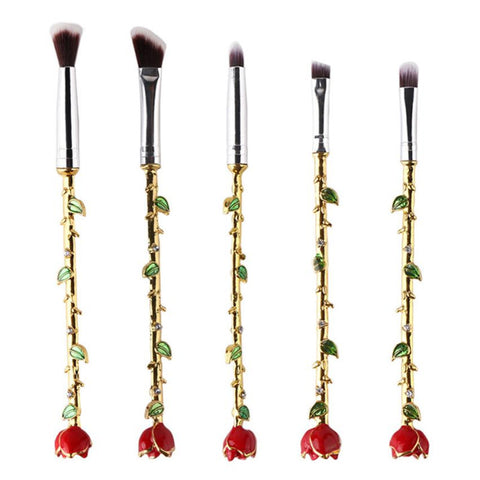 Delicate Rose Brushes (5 pcs)