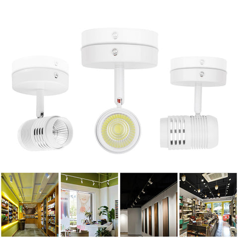 360 Degrees Rotatable 5W COB LED Wall Light Aluminum Ceiling Lamp for Living Porch Cafe Hotel Indoor Decoration Cool White AC 85-265V