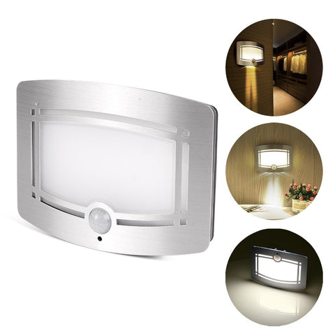 Konesky LED Wall Lamps Stick Anywhere Bright Motion Sensor Activated LED Wall Sconce Night Light Auto On/Off for Pathway Wall