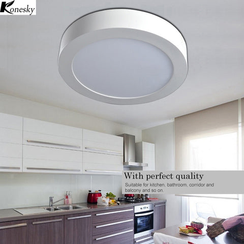 Konesky LED Panel Light 21W Surface Mounted leds Downlight Ceiling lamps Down 85-265V Lampada Led Lamp