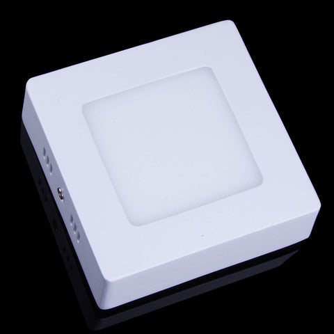 6W Surface Mounted Square Shape Dimmable LED Panel Light Warm White Lamp Downlight AC 85-265V