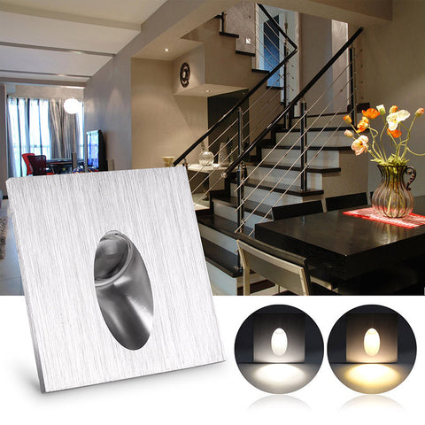 LemonTree Square LED Recessed Porch Pathway Step Stair Light